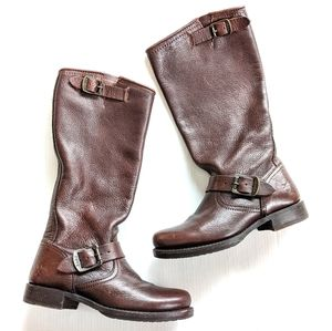 FRYE Veronica Slouch Brown leather Tall Boots